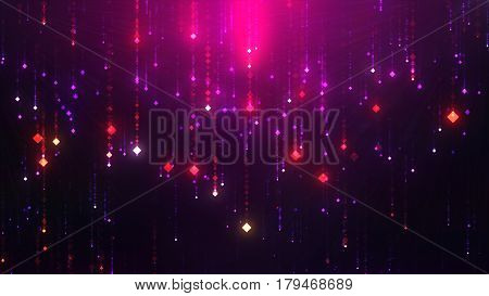 Glamorous Shining Glowing Dots Are A Good Background For Nightclubs And Bars Loop