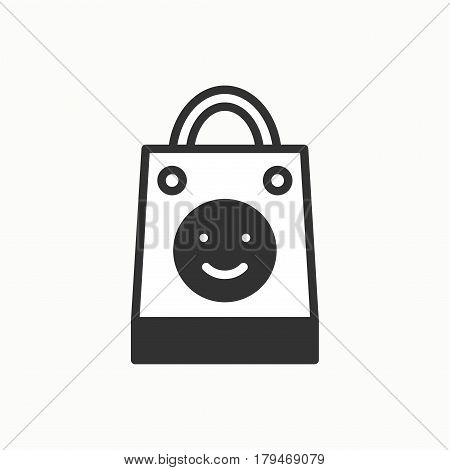Gift icon. Present shopping. Party celebration birthday holidays event carnival festive. Line party element icon. Vector simple linear design. Illustration. Symbols. Congratulation