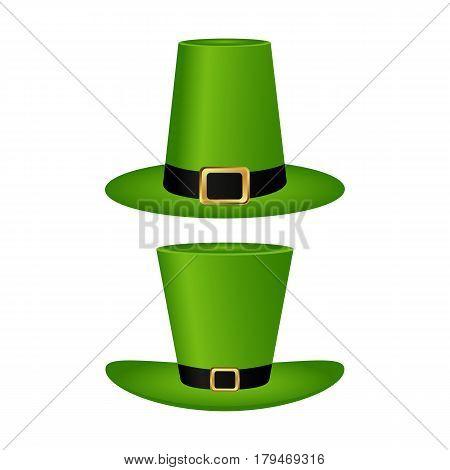 Hat cylinder on St. Patrick s Day vector illustration vector