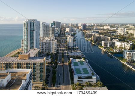 Stock photo of Hollywood Florida coastal scene