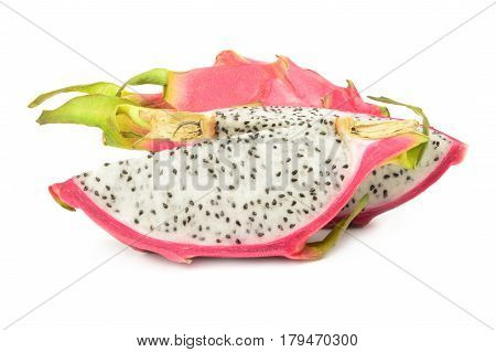 Dragon fruit isolated on a white background