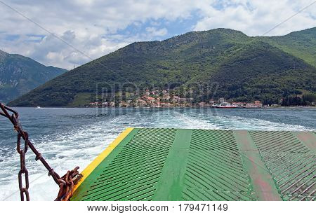Kamenari is a settlement in Montenegro located in the Verige Strait in Montenegro (view from ferry)