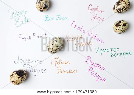 Happy Easter Note Written In Different Languages