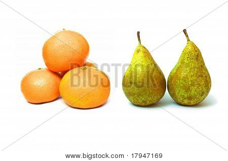 Pears and tangerines