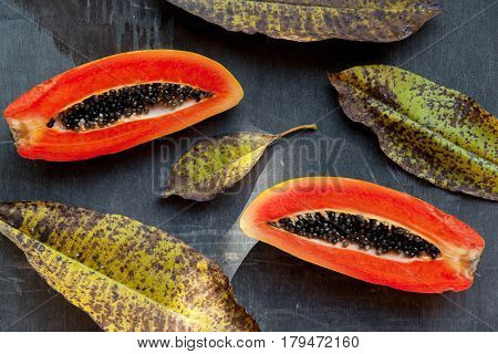 Fresh And Juicy Tropical Fruits: Papaya