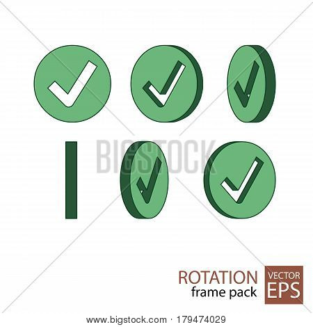Check Mark Rotating Icon Set Of Frames