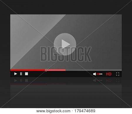 Glossy video player frame Modern video player for web site