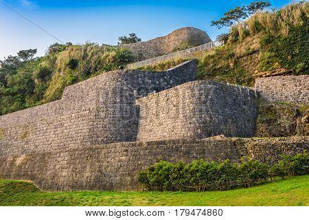 Urasoe, Okinawa, Japan at Urasoe Castle Ruins. The site is part of the infamous Hacksaw Ridge.
