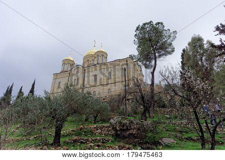 Jerusalem, Israel. - February 14.2017 View of Gorna Monastery for Women