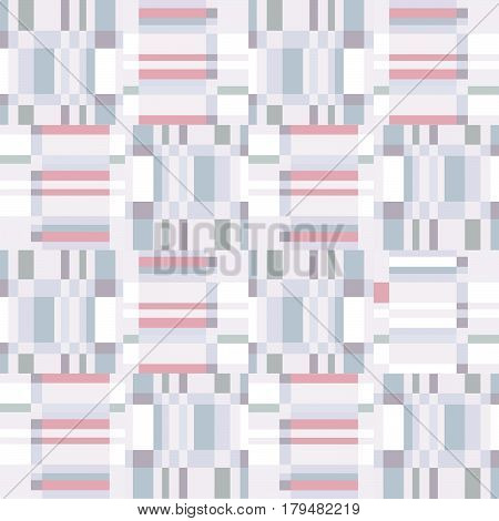 Abstract ruffle geometric seamless pattern. Pixel blink texture