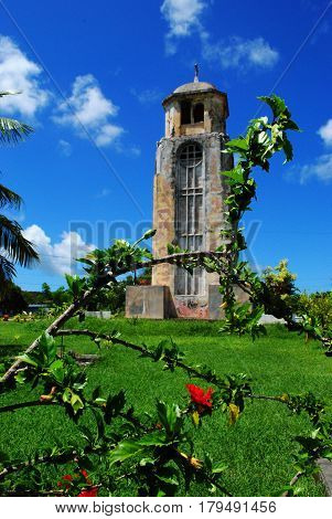 Old San Jose Church bell tower, Tinian Old San Jose Church bell tower, Tinian A central landmark on Tinian, Northern Mariana Islands and was the only portion of the historic church that survived World War 11.