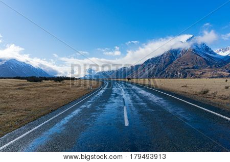 Road In Mountain Valley