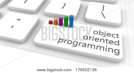 Object Oriented Programming or OOP as Concept 3D Illustration Render