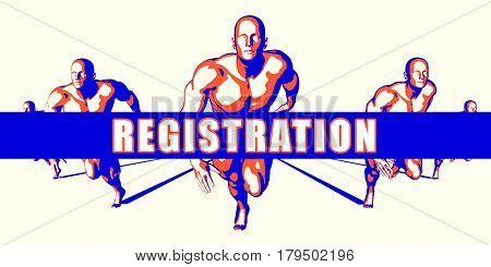 Registration as a Competition Concept Illustration Art 3D Illustration Render