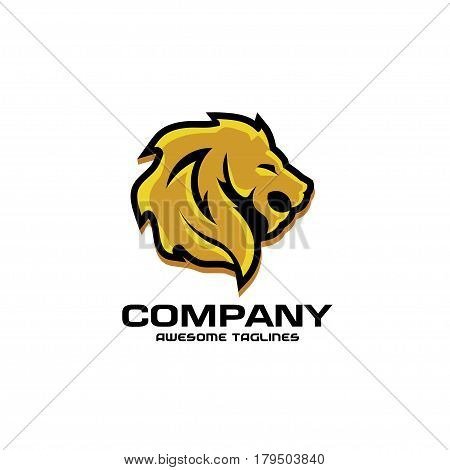 Lion head logo vector, lion king head sign concept . Lions head logo. lion face graphic illustration. Design element.