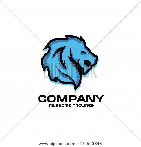 Lion head logo vector, lion king head sign concept . Lions head logo. lion face graphic illustration. Design element.
