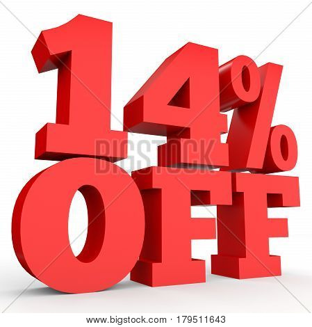Fourteen Percent Off. Discount 14 %.
