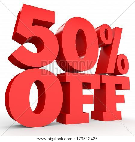 Fifty Percent Off. Discount 50 %.