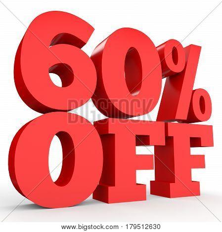 Sixty Percent Off. Discount 60 %.