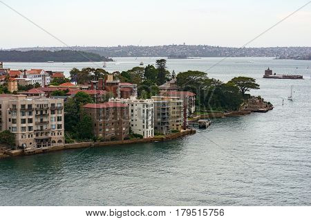 Kirribilli Suburb From The Air