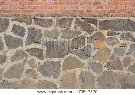 Weathered And Stained Old Stone Wall Background