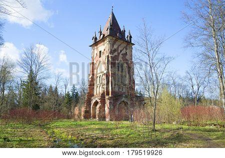 The Chapelle pavilion in the Alexander Park. Sunny may day. Tsarskoye Selo