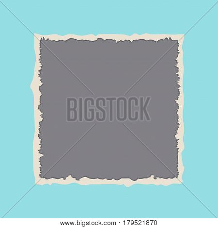 Torn paper with ripped edges banner isolated vector illustration