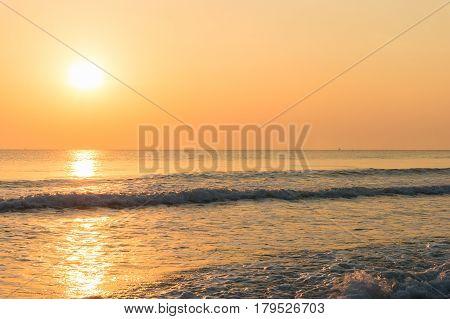 Colorful Sunrise On Tropical Beach