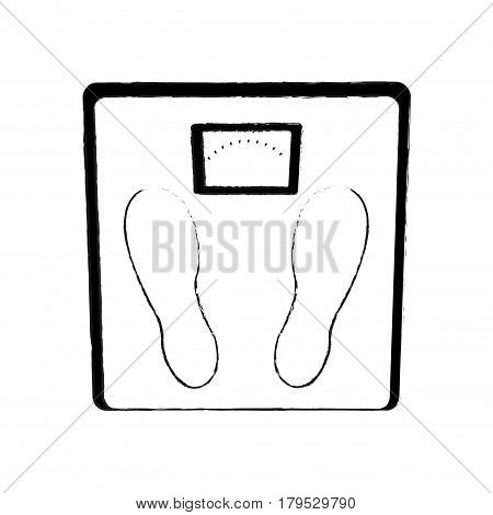 weight scale icon image vector illustration design  black sketch line