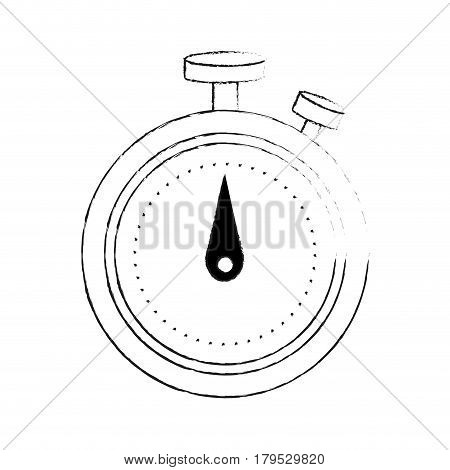 analog chronometer icon image vector illustration design  black sketch line