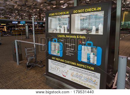 Departure Hall At Changi International Airport, Singapore Changi International Airport