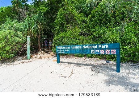 Information Sign In Whitsunday Islands National Park