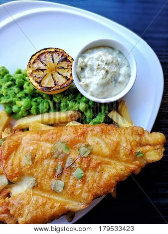delicious fish and chips ready to be eaten