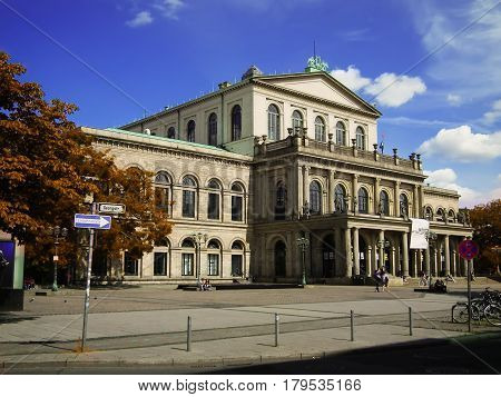Hanover, Germany - June 27, 2015: Opera and Ballet Theatre