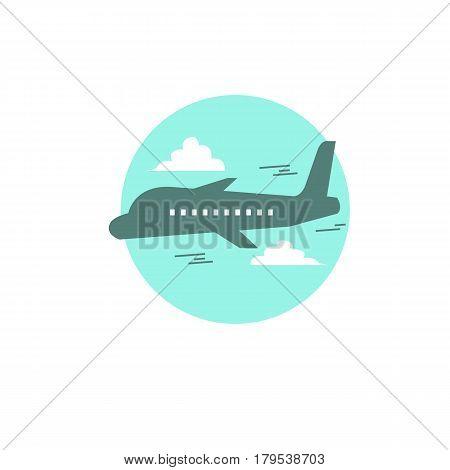 Airplane logo on a white background.  Airplane logo on a white background.