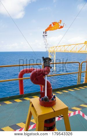 Fire hydrant station high pressure in oil and gas process platform