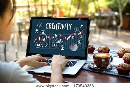 Creativity Creative And Design Thinking Innovation Process And Inspiration, Idea And Imagination , D