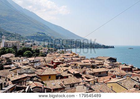 Malcesine Garda lake Italy - beautiful panoramic view
