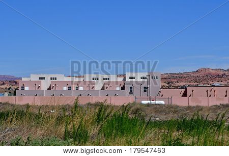 Arizona USA - july 8 2016 : the village of Kayenta near Monument Valley