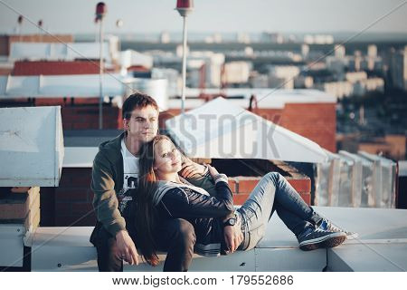 Romantic Date On The Roof