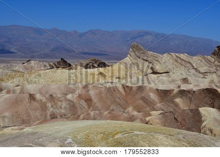 USA - july 11 2016 : Zabriskie Point in the Death Valley National Park