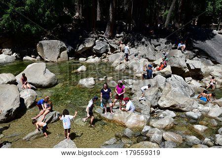 USA - july 12 2016 : the Yosemite National Park