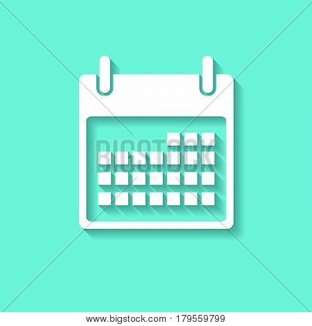 calender icon on white background , Vector.