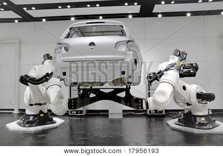 Futuristische Roboter Automatisierung