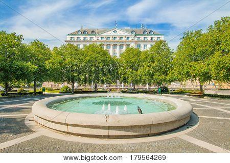 Ante Starcevic park in center of Zagreb, Croatia