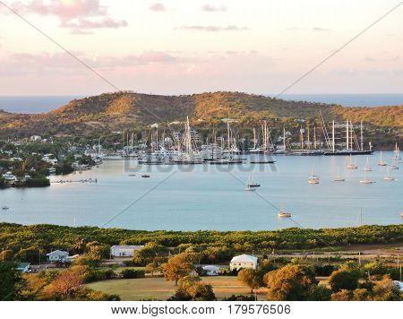 A beautiful morning in the carinnean island Antigua
