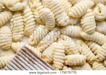Homemade Italian Traditional Gnocchi made with natural ingredients
