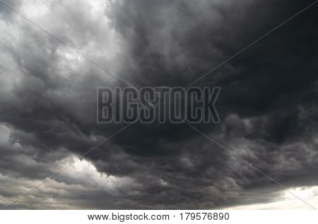Abstract image of the dark storm clouds - before the rain