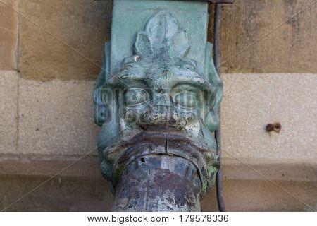 Dragon Decoration European Cathedral Architectural Detail Water Gutter Drain Rain