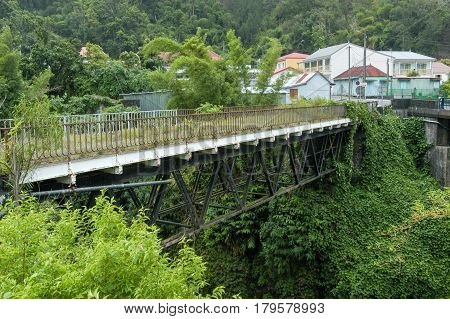 Old Bridge Of Salazie On La Reunion Island, France